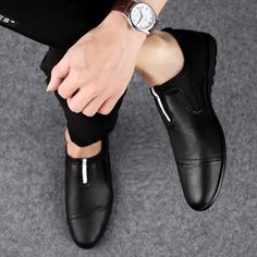 big size 46 Luxury Brand loafers shoes Fashion Casual Men Shoes Genuine Leather Slip-on Men Loafers Dress Flats shoes Mens Loafers Shoes, Loafer Shoes, Men's Shoes, Stylish Shoes For Men, Casual Shoes, Men Casual, Branded Loafers, Rock Style Men, Flat Dress Shoes