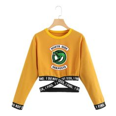 Details about Riverdale Out Waist Cross Streetwear Long Sleeve Crop Top Women HipHop Southside Hipster Outfits, Crop Top Outfits, Teen Fashion Outfits, Swag Outfits, Outfits For Teens, Indie Outfits, Travel Outfits, Fashionable Outfits, Dressy Outfits