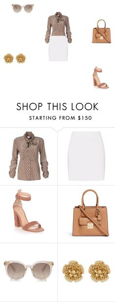 """""""work"""" by ikatsamaki on Polyvore featuring Helmut Lang, Gianvito Rossi, Michael Kors and Miriam Haskell"""