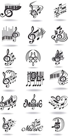 Notes, music staff and treble clef vector free clip art. Just what I needed for ., Tattoo, Notes, music staff and treble clef vector free clip art. Just what I needed for the rest often tattoo! Tatoo Music, Music Tattoos, Tatoos, Art Tattoos, Music Lyrics, Music Songs, Sheet Music Tattoo, Music Symbol Tattoo, Gangster Tattoos