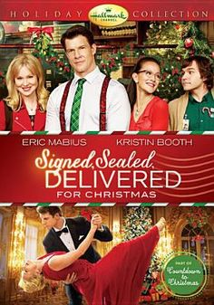 // Signed, Sealed, Delivered for Christmas with Eric Mabius, Kristin Booth & Crystal Lowe Family Christmas Movies, Hallmark Christmas Movies, Hallmark Movies, Christmas 2014, Holiday Movies, Christmas Games, Christmas Printables, Christmas Christmas, Hallmark Weihnachtsfilme