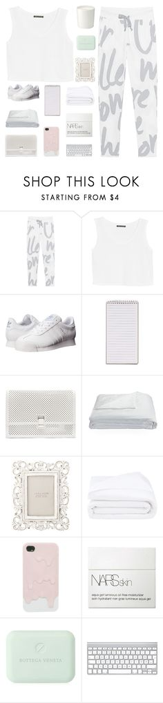 """all white"" by igedesubawa ❤ liked on Polyvore featuring Juvia, MANGO, adidas Originals, Proenza Schouler, Frette, Zara Home, NARS Cosmetics, Bottega Veneta, The White Company and groupcontest"