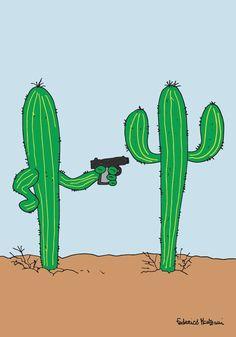 Cactus gun by Federico Monzani