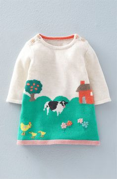 Free shipping and returns on Mini Boden Intarsia Knit Sweater Dress (Baby Girls & Toddler Girls) at Nordstrom.com. A picturesque nature scene plays out on an endearing sweater dress that she'll love showing off as much as she loves the feel of the lightweight, cashmere-softened knit.