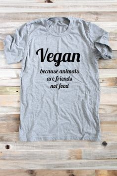 Vegan Shirt  Animals Are Friends  Vegan T Shirt  by ArimaDesigns