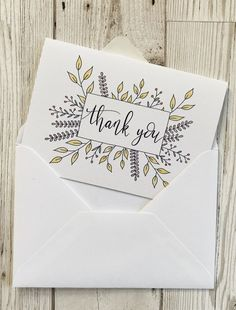 Hand lettered floral thank you cards suitable for wedding thank you notes or any other special occasion. Eco friendly too! Hand lettered floral thank you cards suitable for wedding thank you notes or any other special occasion. Eco friendly too! Tarjetas Diy, Calligraphy Cards, Calligraphy Birthday Card, Calligraphy Thank You, Calligraphy Practice, Beautiful Calligraphy, Calligraphy Alphabet, Islamic Calligraphy, Thank You Card Design