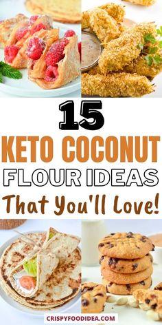 Keto Diet Book, Keto Diet Guide, Ra Diet, Coconut Flour Recipes, Coconut Ideas, Low Carb Keto, Low Carb Recipes, Best Keto Meals, Low Carb Grocery