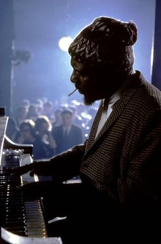 Thelonius MONK. Onstage at the piano. ©Burt Glinn
