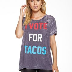 I Vote For Tacos Tee