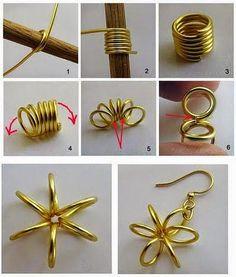 Ohrring DIY ❤ http://bit.ly/1tnJM1O