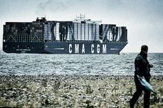 """JR """"Women Are Heroes"""" Container Ship"""