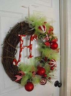 I made this same wreath (too lazy to take a pic of mine) for just $38... in about 15 minutes (hardest thing was painting the letter) Could have done it cheaper if I hadn't been in a hurry