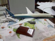 My Boeing 787 Dreamliner model in Boeing house colours.