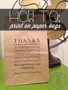 how to print on paper bags; DIY Paper Bag printing