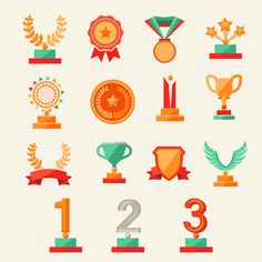 15 of the trophy design vector material