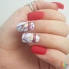 44 Cute Matte Red Nail Designs ( Summer 2018 )