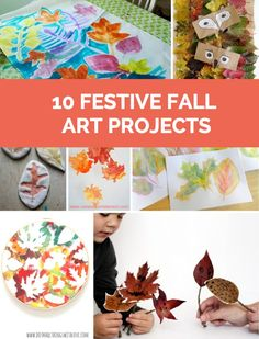 Celebrate fall with the kids with these beautiful and easy fall art projects. #kidscrafts #fallcrafts