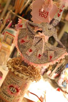 cute take on a valentine spool.