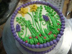 mixed berry flower cake by megpi, via Flickr