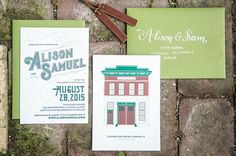 Alison & Sam Wedding Invitation
