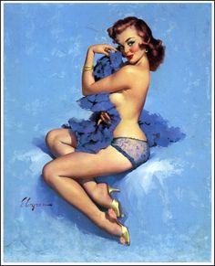 Roxanne by Gil Elvgren 1960