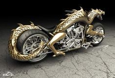 Fortus 3D Printer Brings Golden Dragon Chopper To Life. Damn!!