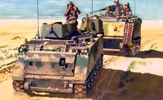 """A Troop, First Squadron, First Cav, Americal Division move along the beach of the South China Sea toward Hill 29 in August Don Greer Armoured Personnel Carrier, Military Art, Vietnam War, Troops, Military Vehicles, Beach, Apc, Image, Division"