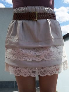 8202e6a46beb DIY - Tired Lace Scalloped Skirt a little short for me but I like it Diy