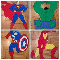 Superman - Hulk - Ironman - Capitán América