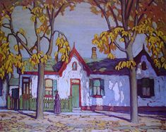 Patrick Street by Lawren Harris Group of Seven Group Of Seven Artists, Group Of Seven Paintings, Art And Illustration, Illustrations, Canadian Painters, Canadian Artists, Emily Carr, Tom Thomson Paintings, Painting Inspiration