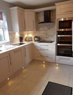 Remodeling Kitchen Lighting That corner cupboard, that's what I have in mind for above the new sink Home Decor Kitchen, Kitchen Interior, New Kitchen, Home Kitchens, Kitchen Corner Cupboard, White Kitchen Floor, Luxury Kitchens, Cuisines Design, Kitchen Tiles