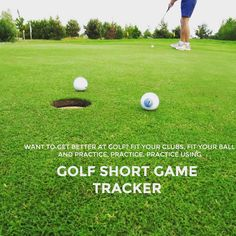 """Want to get better at golf, get fitted and practice. Download Golf Short Game Tracker at http://www.golfshortgametracker.com…"""