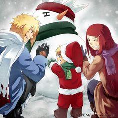 merry christmas uzumakinamikaze family - Naruto Christmas