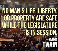 Mark Twain knew what congress was up to...