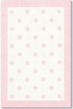 Charming The Rug Market America Baby Polka Dots Pink (11408) Area Rugs 4u00277