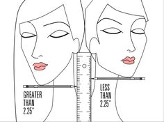 Curious? Position a pencil or pen under your chin horizontally and then place a ruler under your ear vertically. Take your measurement from the intersection of the pencil and ruler. Less than 2.25 inches and you'd look amazing with short hair; anything more, and long locks will be the most flattering choice for you. To see a full article on this technique, click here.   - GoodHousekeeping.com