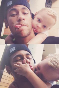 Awww!!!!!!! Neymar Jr and Davi Lucca!!!