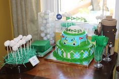 Golf party: Charlie is 1!