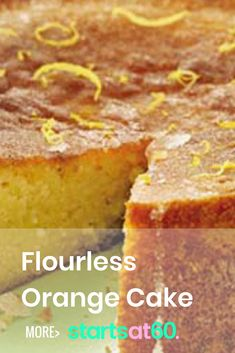 This flourless orange cake is so rich and tangy that you won't notice it is completely flour and gluten free! Almond Flour Cakes, Baking With Almond Flour, Almond Flour Recipes, Flourless Orange Cake, Flourless Cake, Gluten Free Cakes, Gluten Free Baking, Baking Recipes, Dessert Recipes