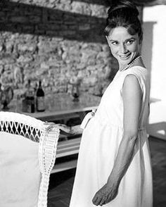 Audrey pregnant with her first son, Sean.   Photo by Mel Ferrer.