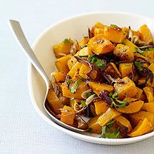 """Spice-Roasted Butternut Squash and Onions (Weight Watchers Recipe)  (my cousin says: """"I've made this several times, and we love it each time! I've switched to using sweet yellow onions instead of the red. The gram masala gives it a great flavor twist.)"""