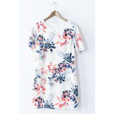Bold Floral Shift Dress