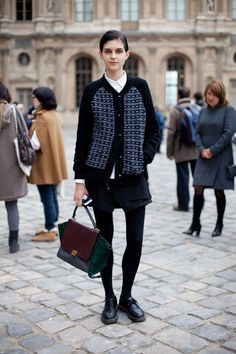 STREET STYLE SPRING 2013: PARIS FASHION WEEK - Proof positive that this Celine bag is a must-have.