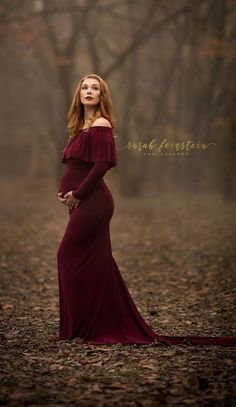 Scarlet Maternity Dress Burgundy -tube top option - Silk Fairies
