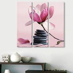 Feszített Canvas Art A Stones és a virágok
