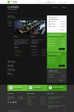 GymBase - Responsive Gym Fitness WordPress Theme by QuanticaLabs , via Behance