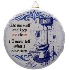 Round Ceramic Plaque: Bathroom