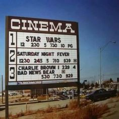 1977 Drive In Star Wars Saturday Night Fever Charlie Brown Bad News Bears