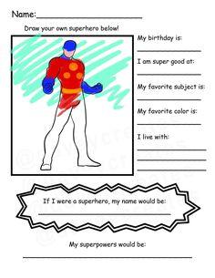 Back To School Superhero, Superhero Classroom Theme, Fun Classroom Activities, Therapy Activities, Kindergarten Activities, Kindergarten Class, Classroom Organization, Beginning Of School, First Day Of School
