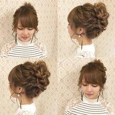 Pin by San Chiyobi on アップ ヘア in 2020 Bride Hairstyles, Cute Hairstyles, Hair Arrange, Hair Setting, Messy Updo, Japanese Hairstyle, Festival Hair, Dream Hair, Hair Dos